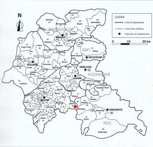 carte ouest avec tous les villages